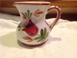 Relpo mid 1900s vintage majolica style floral ceramic pitcher image 7