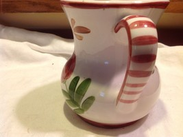 Relpo mid 1900s vintage majolica style floral ceramic pitcher image 5