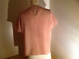 Rena Rowan Flower Pattern Mauve Short Sleeve Shirt Flowers are Small Size 10 image 7