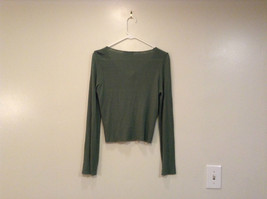 Relais Knitted Soft Green Long Sleeve Sweater Ribbon Tie Closure Size Small image 2