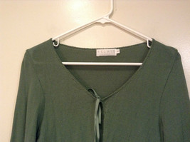 Relais Knitted Soft Green Long Sleeve Sweater Ribbon Tie Closure Size Small image 3