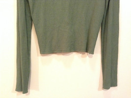 Relais Knitted Soft Green Long Sleeve Sweater Ribbon Tie Closure Size Small image 6