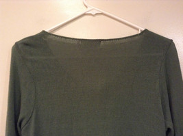 Relais Knitted Soft Green Long Sleeve Sweater Ribbon Tie Closure Size Small image 5