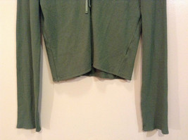 Relais Knitted Soft Green Long Sleeve Sweater Ribbon Tie Closure Size Small image 4