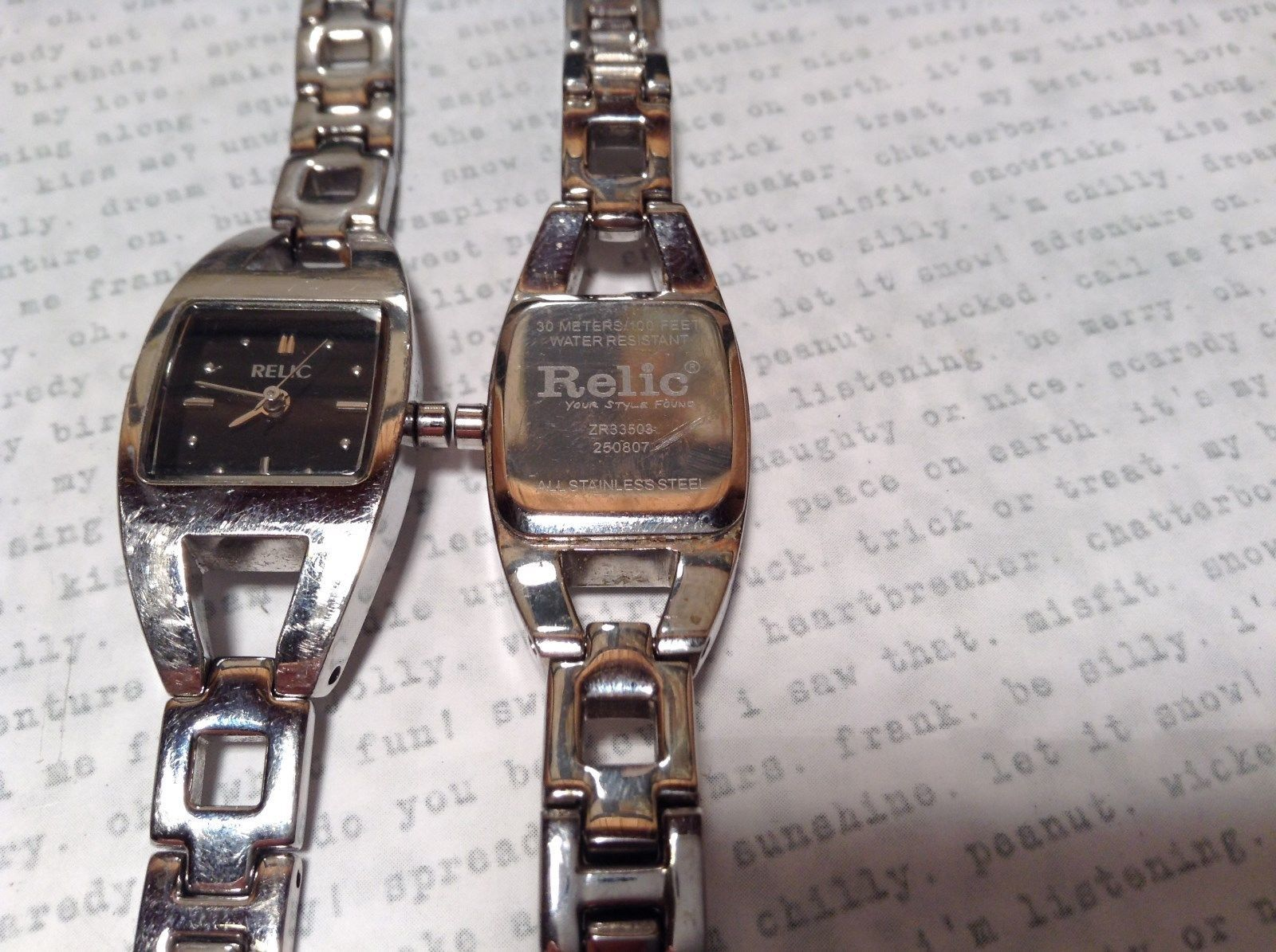 ... Relic ZR 33503 Wristwatch Two Available One Has 12 Links One Has 14  Links ...