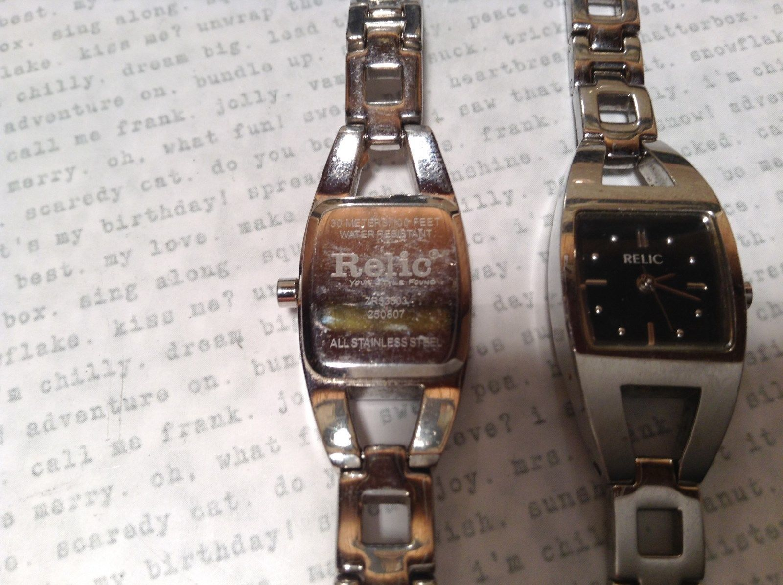 ... Relic ZR 33503 Wristwatch Two Available One Has 12 Links One Has 14  Links