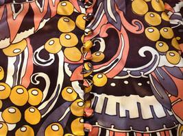 Remron Astarte Brand Womens Blazer Vivid Pattern Brown Yellow Peach California image 5