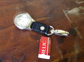 Relic Glow in the Dark Hands Key Chain Watch New Condition Tin Water Resistant   image 2