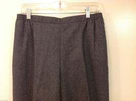 Applesee's Ladies Gray 100% Wool Fully Lined Elastic Back Waist Pants, Size 12 image 3