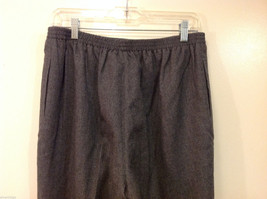 Applesee's Ladies Gray 100% Wool Fully Lined Elastic Back Waist Pants, Size 12 image 6