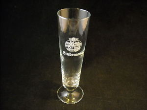 Tall Glass says Lindeman's w Logo German Beer Stein