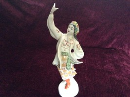Tall Dancing Russian Woman Statue Figurine 10 Inches High - $54.44