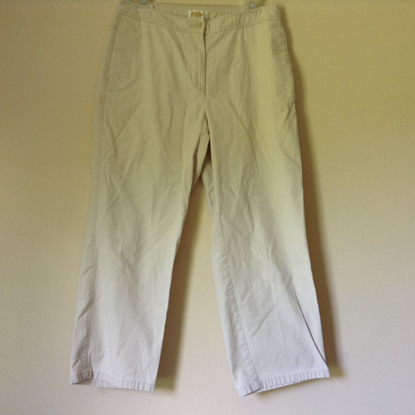 Talbots White Pants 2 Pockets 96 Percent Cotton 4 Percent Lycra Spandex Size 121