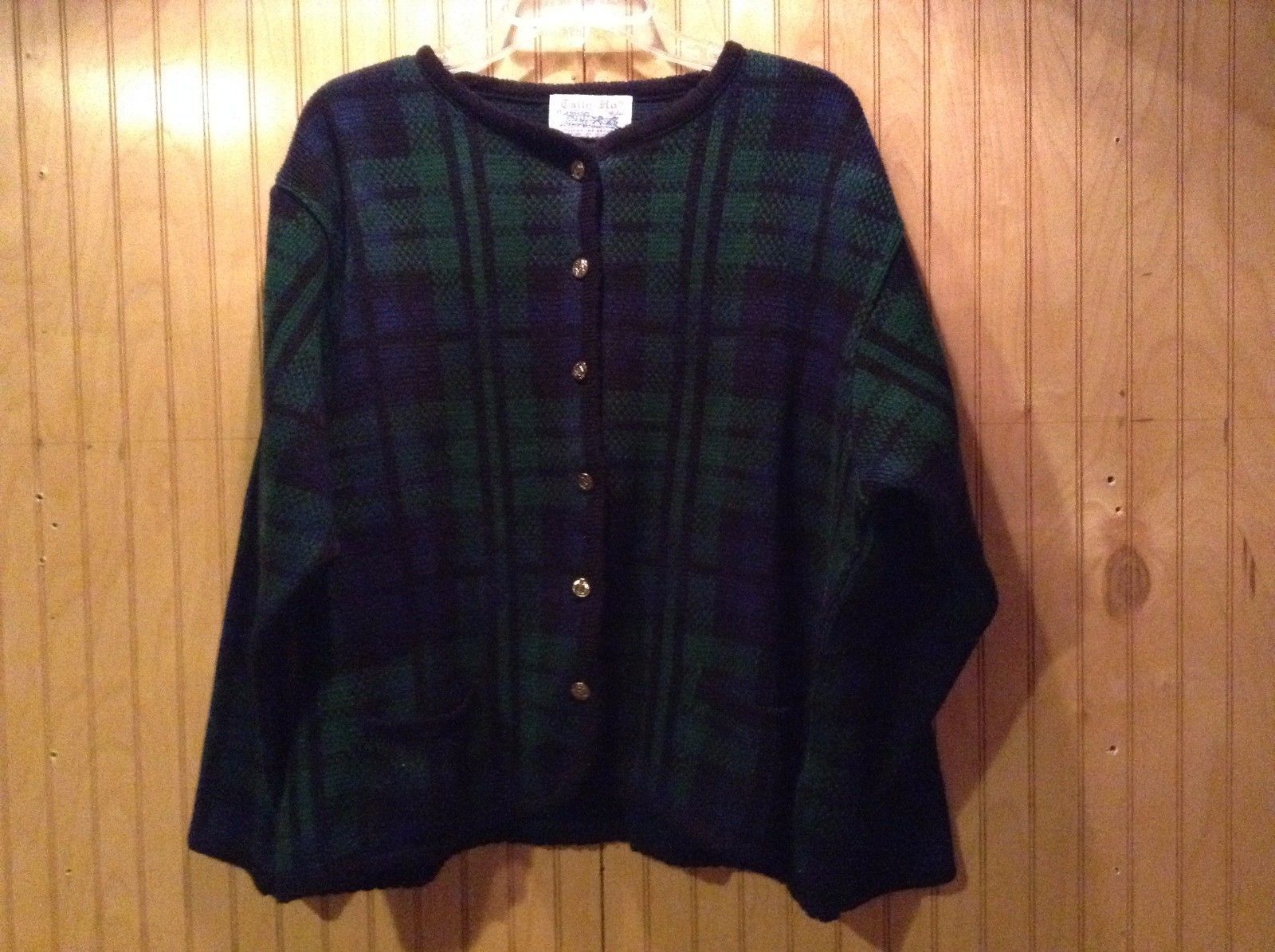 Tally Ho Green Black Blue Checkered Riding Jacket with Buttons