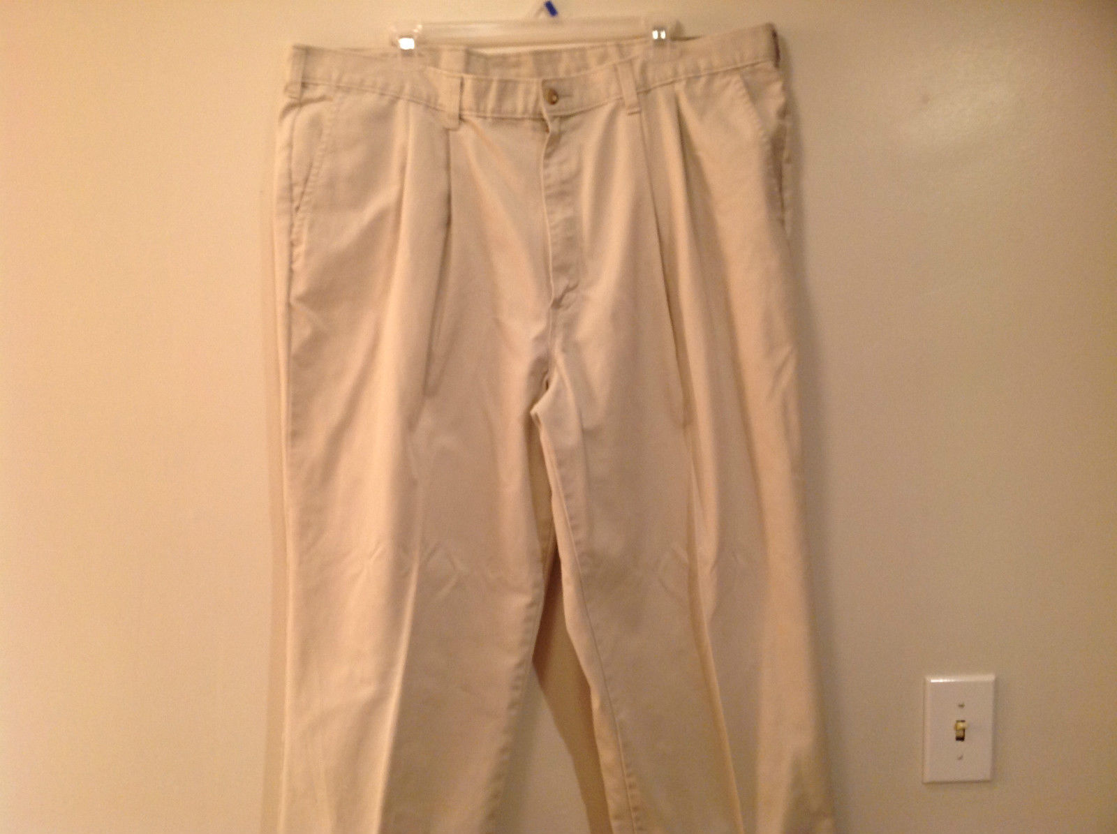 Tan Colored Dickies Casual Pants Pockets Button Zipper Closure No Size Tag