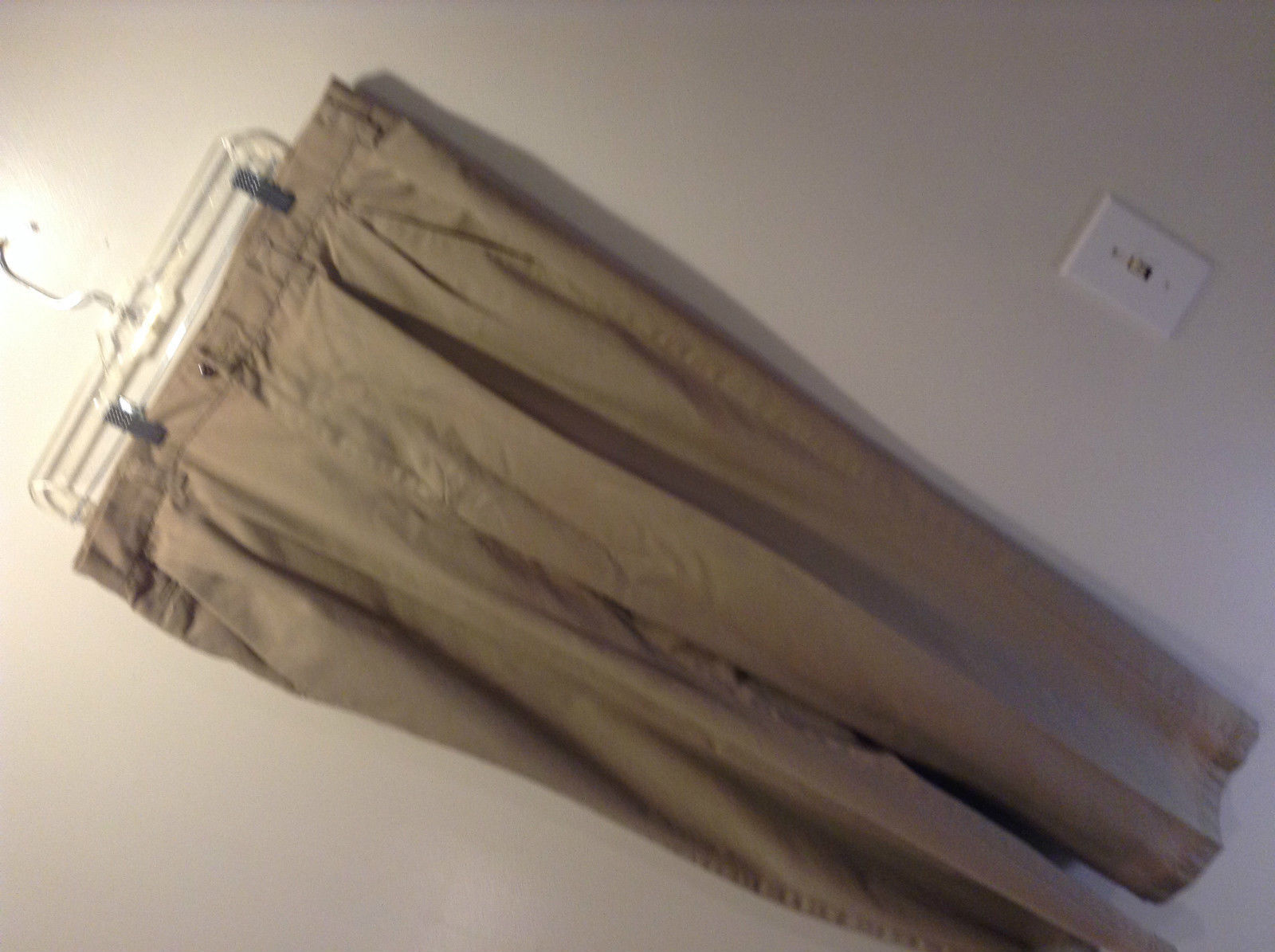 Tan Haggar Pleated Front Dress Pants Size 38 by 30 Front Back Pockets