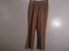 Tan Giorgio Sant Angelo Lined Dress Pants Pleated Front Side Pockets Size 12