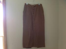Tan Longer Length 4 Pocket Skirt Button Zipper Closure Jones New York Size 10