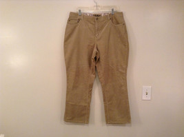 Tan L A Blues Velvet Jeans Size 18WS Zipper and Button Closure Pockets image 1