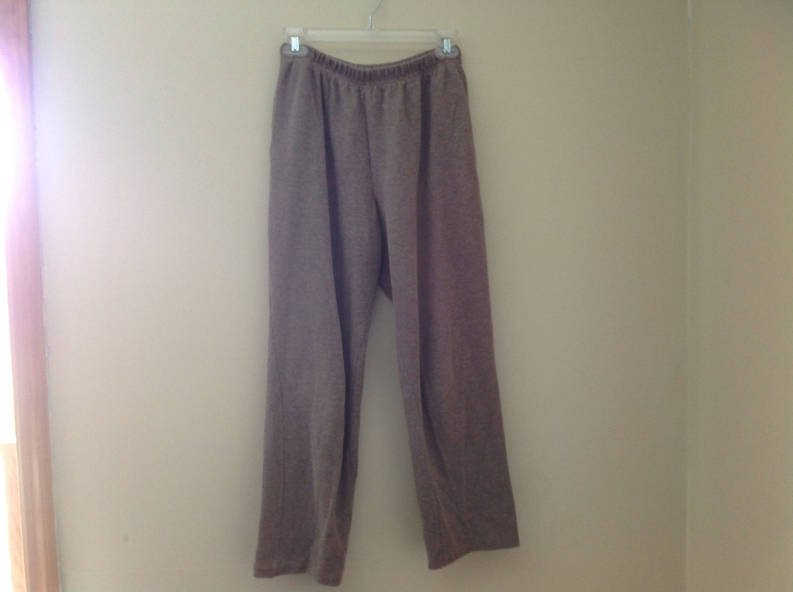 Tan Pocketed Elastic Waistband Sweatpants b Adrienne Vittadini Size S Petite