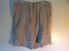Tan Size Medium Banana Republic 100 Percent Linen Shorts Adjustable Waist
