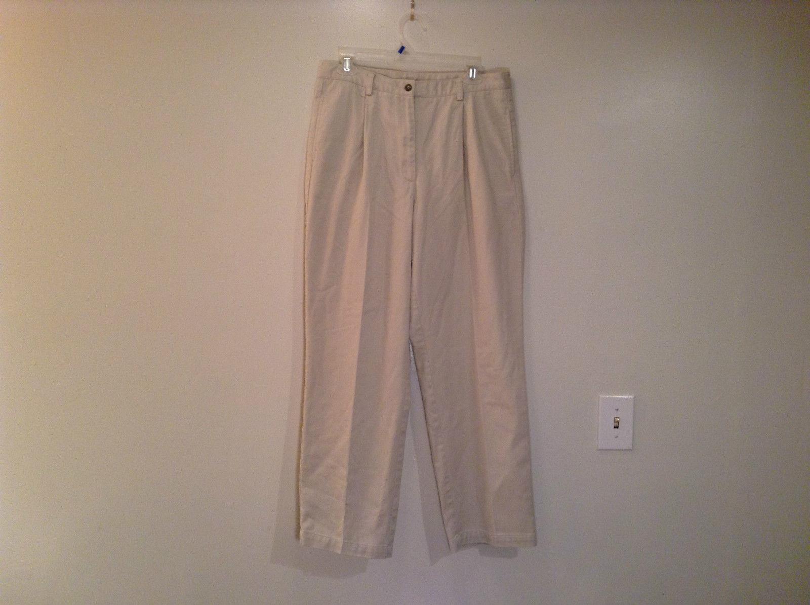 Tan Size 14R Liz Claiborne Sport Kylie Petite Casual Pants 100 Percent Cotton
