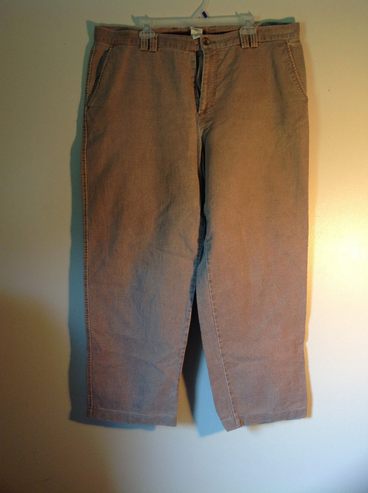 Tan Size 40 Pants The Territory Ahead Front Back Pockets Zipper Button Closure