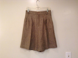 Tan and Black Briggs New York Shorts High Waist Style Side Pockets Size 14