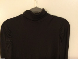 Apt.9 Womens Dark Brown Stretchy Long Sleeve Turtleneck Sweater Shirt, Size PS image 2