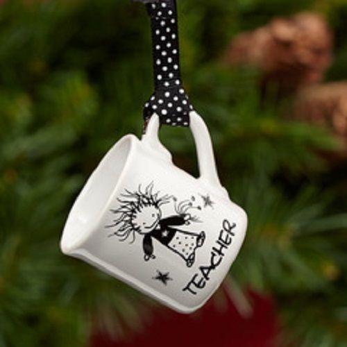 Teacher thank you gift mini mug ornament  or Christmas gift for teacher
