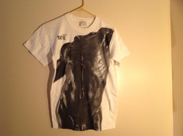 Tate White Short Sleeve T-shirt with Headless Body Design Size Medium