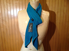 Teal Slight Metallic Shine Fashion Scarf by Magic Scarf Company Angular Ends