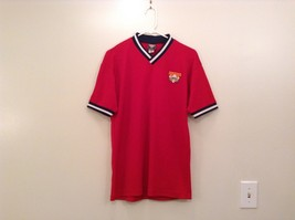Team Cooperstown Little Majors Bright Red Team Embroidery V Neck Shirt Size M - $39.99