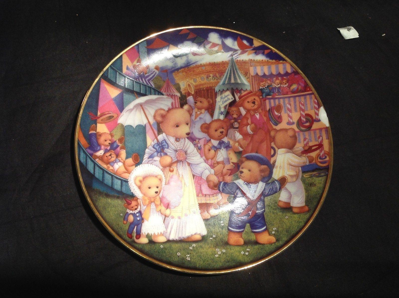 Teddy Bear Fair Limited Edition Porcelain Plate by Carol Lawson Franklin Mint
