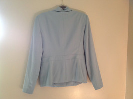 Arctic Blue Matching Skirt and Blazer Suit by Casual Corner Pleated Size 6 image 6