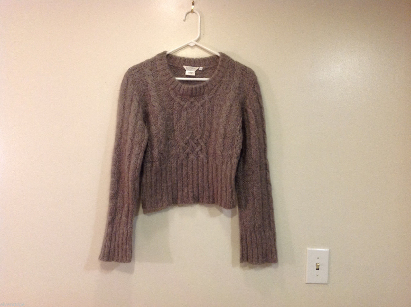 Tehen Gray Mohair Knitted Sweater, Size 2, Scoop neck