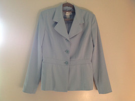 Arctic Blue Matching Skirt and Blazer Suit by Casual Corner Pleated Size 6 image 2