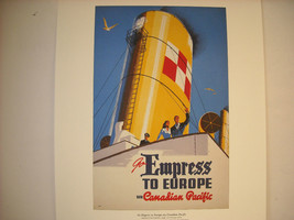 Reproduction Print of Vintage Travel Ad for Canadian Pacific Empress Steamship image 2