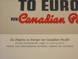 Reproduction Print of Vintage Travel Ad for Canadian Pacific Empress Steamship image 4