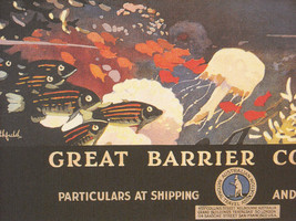 Reproduction Print of Vintage Travel Ad for Australia Great Barrier Reef image 3