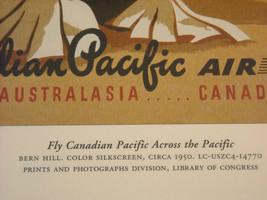Reproduction Print of Vintage Travel Ad for Canadian Pacific Airline image 3