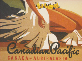 Reproduction Print of Vintage Travel Ad for Canadian Pacific Airline image 5