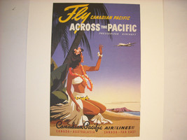 Reproduction Print of Vintage Travel Ad for Canadian Pacific Airline image 2