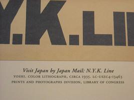 Reproduction Print Vintage Travel Ad Japan N.Y.K. Line Japan Mail image 2