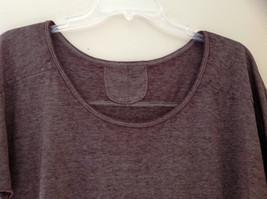 Arizona Dark Mauve Faded Scoop Neck High Low Waist Short Sleeves Shirt Size XL image 4