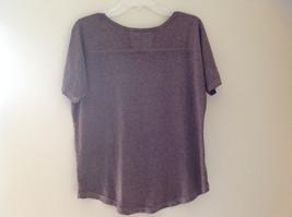 Arizona Dark Mauve Faded Scoop Neck High Low Waist Short Sleeves Shirt Size XL image 5