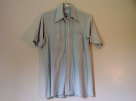 Thane Size Medium Very Light Green Short Sleeve Button Down Casual Shirt - $39.59