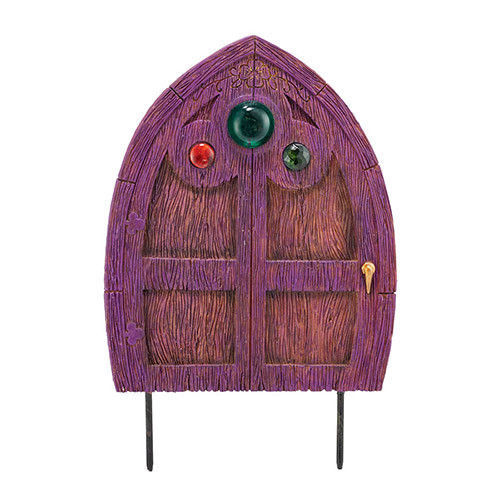 Three Jeweled Department 56 Garden Guardians Purple FAIRY DOOR Garden Stake