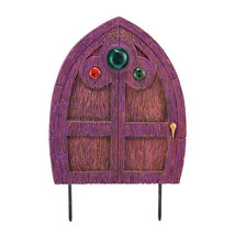 Three Jeweled Department 56 Garden Guardians Purple FAIRY DOOR Garden Stake - $42.07