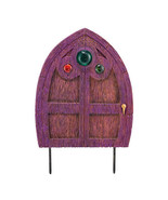 Three Jeweled Department 56 Garden Guardians Purple FAIRY DOOR Garden Stake - $42.07